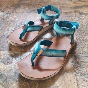 Teva Ombre Original Sandals Teal Thong Flip Flop